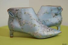 TED BAKER AMAEDIP BLUE FLORAL ANKLE BOOTS BOOTIES SIZE 4 37 RRP £139!!! NEW!!!