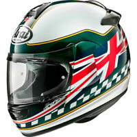 Arai Debut Union Motorcycle Motorbike Helmet - Green Union Flag UK Supplier 2019