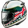 Arai Debut Union Motorcycle Motorbike Helmet - Green Union Flag UK Supplier 2019