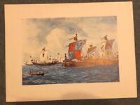 Kunstdruck Seeflotte gemalt um 1889 von Rafael Monleon Poster 44,5 x 33,5 (M2)