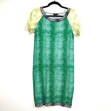 Armani Jeans Snakeskin Print Short Sleeve Knit Sweater Dress Size 38