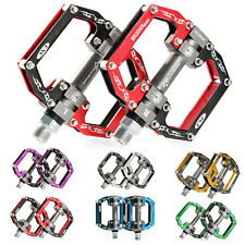 ROCKBROS Road Mountain Bike Platform Pedals Flat Aluminum Sealed Bearing 9/16 in