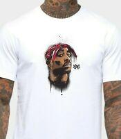 Tupac Shakur 2PAC Men's T-Shirt 90s Rap Hip Hop Top Thug Life Music Poster Shirt