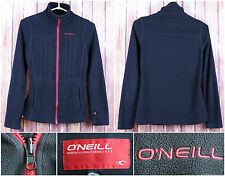 O'Neill Premium L/S Women's Zipper Sweater Size XS Front Red Logo Striped Black