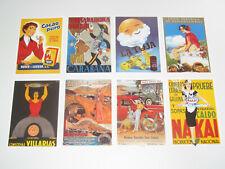 Lot de 8 Carte Postale Reproduction Affiche Publicitaire Ancienne Pub d
