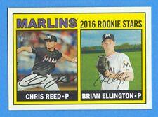 2016 Topps Heritage #169 Chris Reed/Brian Ellington Marlins Rookie Stars
