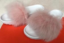 UGG Australia Royale Toscana 1018875 Pink Fuzzy Slides Slip-On Sandals Women's 7