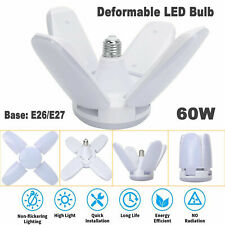 E27 Led Garage Light Bulb Deformable Ceiling Fixtures Light Shop Workshop Lamps