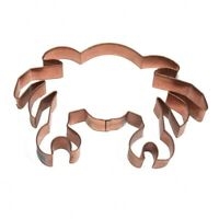 Copper Crab Shaped Cookie Cutters 5.5 Inch Set Of 6 Made Of Copper In A Copper