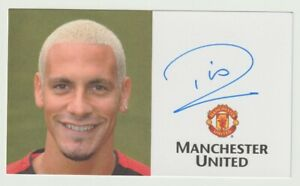 Rio Ferdinand Signed Official Manchester United Club Card Debut Season Autograph