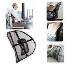Black Mesh Back Suport Pain Relief Lumber Cushion For Car Seats Office Chair New