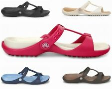 Flache Crocs Damen-Zehentrenner für die Freizeit