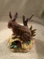 Brown Hare Porcelain Figurine (Rabbit/bunny) Kowa Japan - Excellent