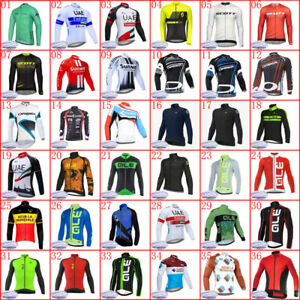 Mens Winter Cycling Thermal Jersey Bike Fleece Jacket Bicycle Long Sleeve Shirt
