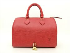 Louis Vuitton Authentic Epi Leather Red speedy 25 Purse Hand Bag Auth LV