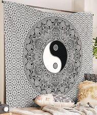 Indian Yin Yang Mandala Wall Hanging Bohemian Hippie Tapestry Queen Beach Throw
