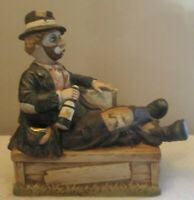 1985 WACO Willie the Hobo Melody In Motion Porcelain Musical Clown