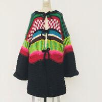 ⭕ 80s Vintage KANSAI YAMAMOTO low gauge knit coat : jacket dress avant garde 90s