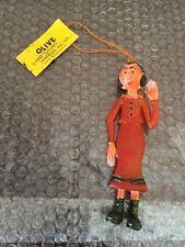 Vintage 1974 OLIVE Bendy/Jiggler Figures Ben Cooper New With Tag Super Rare