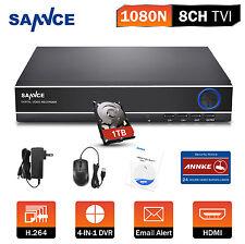 SANNCE 8CH 960H Network CCTV DVR for 900TVL Camera Kit Motion Detect&Instant 1TB