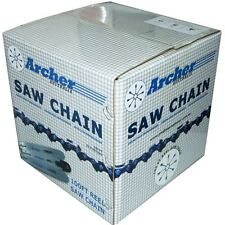 Archer Chainsaw Saw Chain 100 Ft Reel 3/8 LP .043 1635 Drive Links