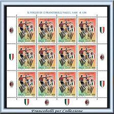1999 Repubblica Scudetto al Milan Campione Italia 1998-99 Minifoglio Calcio **