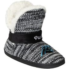 NFL Carolina Panthers Womens Peak Boot Slippers Fluffy For Her NEW XL NWT