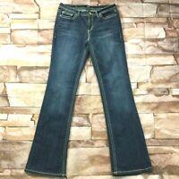 "ana Womens Jeans size 10 Tall Long x 35"" insm new Dark Wash Slim Bootcut Stretch"