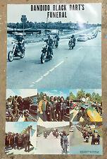 Bandido Black Bart's Funeral Poster Original 70's Motorcycle Club Run Chopper