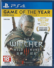 Sony Playstation 4 PS4 The Witcher 3: Wild Hunt Gioco dell'anno Eng / Chi