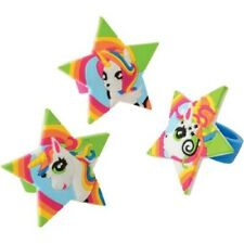 Unicorn Birthday Party Supplies Party Favors Rings - Set of 40