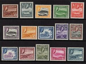Antigua QE 1953 set Lightly Mounted Mint