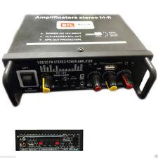 PDR*AMPLIFICATORE AUDIO 12V 220V USB SD MP3 RADIO FM CASA AUTO 2 CH 1000W BTL
