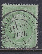 FRANCE 1871. N°35, 5CT VERT PALE S. BLEU OBLITERE EN TB. 230€   [A355]