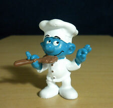 Smurfs Chef Smurf 20042 Spoon Baker Germany Vintage Figure Toy PVC Figurine Peyo