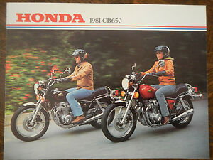 81 Honda CB650 NOS OEM DEALER'S Sales Hoja Folleto CB 650