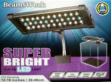 Beamswork Super Bright Clip hang on nano aquarium LED light 110V 240V 10000k UK