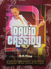 David Cassidy the Patridge Family  ad/flyer  NYC BB.Kings concert 3/4/2017