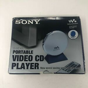 Sony D-VE45 Video CD VCD CD CD-R Portable Video CD NEW BOX With Accessories ONLY
