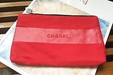 NEW CHANEL Rouge Allure Red Makeup Cosmetic BAG Pouch