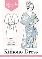 Womens The Simple Sew Kimono Dress UK SIZES 8-20 Ladies Sewing Pattern