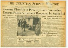 VE Day German Surrender Polish Stalin Bid Britain Rejoices in Victory 4 May 1945