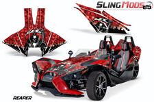 AMR Hood & Side Panel Graphics Kit for the Polaris Slingshot Reaper Red