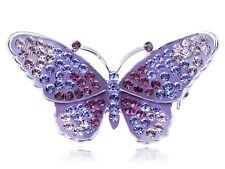 Crystal Elements Purple Regal Monarch Jewel Fashion Butterfly Pin Brooch Gifts