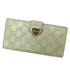 Gucci Wallet Purse Long Wallet Guccissima Green Woman Authentic Used D1224