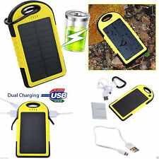 US 12000mAh Solar Dual USB Portable Battery Charge Power Bank For Phone Light YE
