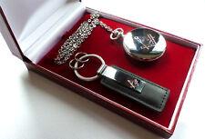 Silver Freemason Masonic Keyring Keyring PLUS Pocket Watch Luxury Gift Set