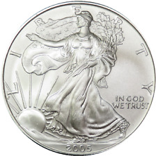 New listing 2005 Bu Uncirculated Silver American Eagle Dollar $1 Sae Troy Oz .999 Us Coin