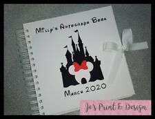 Personalised Disneyland Paris Autograph Book Scrap Book Mickey Minnie Mouse