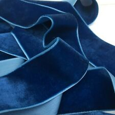 Blue Neat Edge Velvet Ribbon Sewing Easter Wedding Crafts 1 Metre